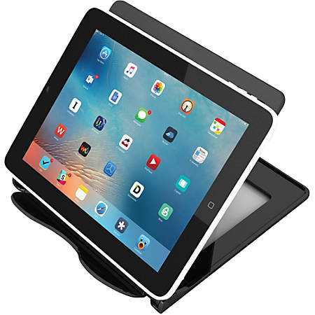 """Deflecto Hands-Free Tablet Stand - 5.8"""" x 7.1"""" x 7"""" - 1 Each - Black"""