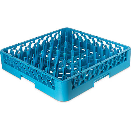 "OptiClean Tall Peg Plate And Tray Rack, 19 7/8""H x 19 7/8""W x 4""D, Blue"