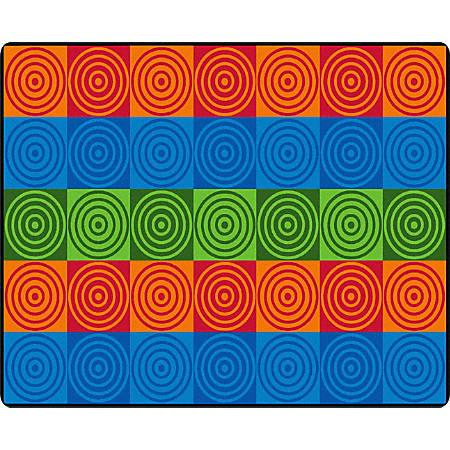 "Flagship Carpets Bull's-Eye Block, Rectangle, 10' 9"" x 13' 2"", Multicolor"