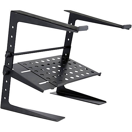 Pyle Laptop Computer Stand For DJ W/Storage Shelf