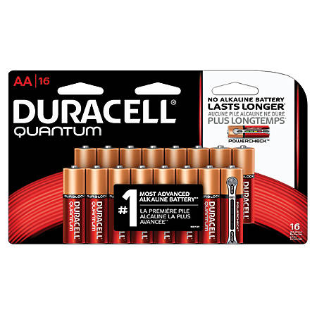 Duracell® Quantum AA Alkaline Batteries, Pack Of 16