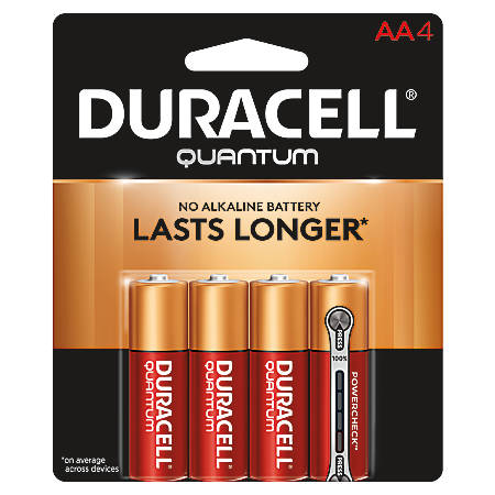 Duracell® Quantum AA Alkaline Batteries, Pack Of 4