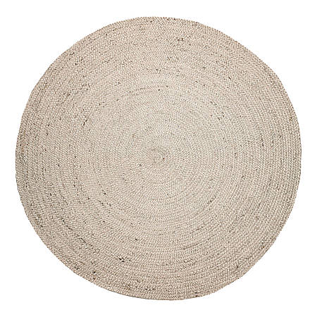Anji Mountain Kerala Natural Jute Rug, 6', Ivory