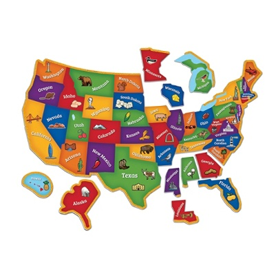 Learning Resources Magnetic U.S. Map Puzzle, Pre-K - Grade 4 Item # 9768464