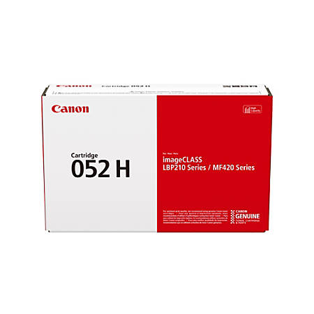 Canon CRG 052 H High-Yield Black Toner Cartridge (2200C00A)