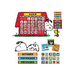 Eureka Peanuts Calendar Bulletin Board Set