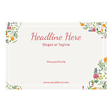 Custom Banner Horizontal Floral Design 6
