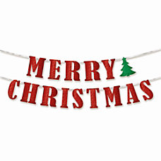Amscan Merry Christmas Glitter Banners 5