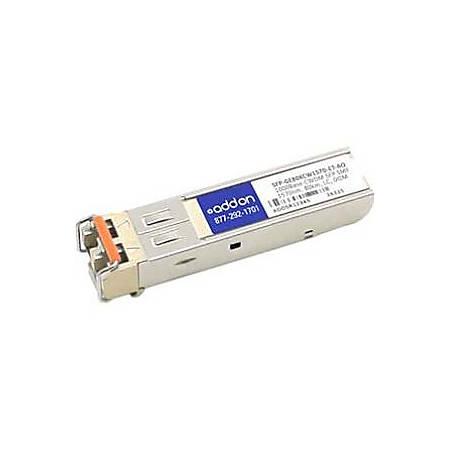 AddOn Juniper Networks SFP-GE80KCW1570-ET Compatible TAA Compliant 1000Base-CWDM SFP Transceiver (SMF, 1570nm, 80km, LC, DOM)