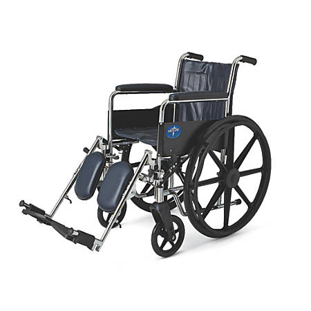 "Medline Excel 2000 Wheelchair, Elevating, 16"" Seat, Navy"