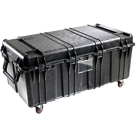 "Pelican 0550 Transport Case - Internal Dimensions: 47.57"" Length x 24.07"" Width x 17.68"" Depth - External Dimensions: 51.1"" Length x 27.5"" Width x 22.8"" Depth - 87.67 gal - Double Throw Latch Closure - Heavy Duty - Stackable - Black"