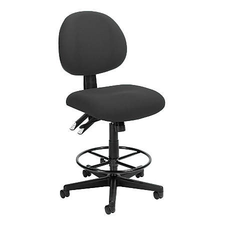 OFM 24-Hour Fabric Task Chair With Drafting Kit, Charcoal/Black