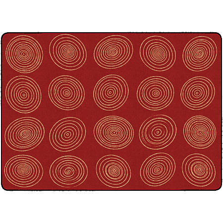 "Flagship Carpets Circles Rug, Rectangle, 6' x 8' 4"", Brick"