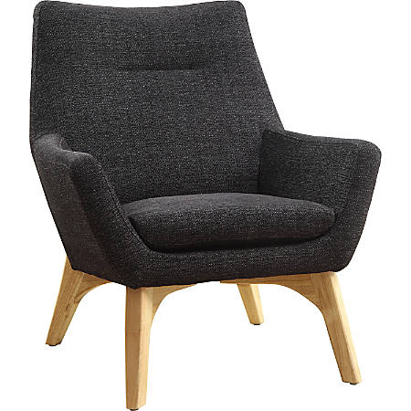 Lorell™ Quintessence Upholstered Side Chair With Lumbar Support, Black/Natural