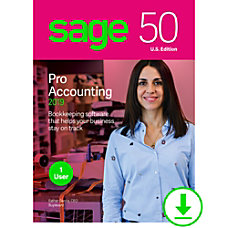 Sage 50 Pro Accounting 2019 US