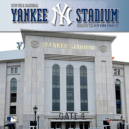 "Turner Sports Monthly Wall Calendar, 12"" x 12"", New York Yankees Yankee Stadium, January to December 2019"