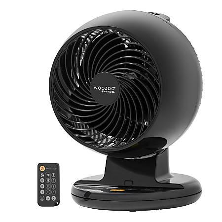 IRIS Woozoo C18T Oscillating Circulating Desk Fan, Black