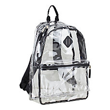 Eastsport Clear PVC Backpack Black With