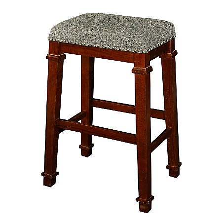 Linon Home Décor Products Marshall Backless Bar Stool, Walnut/Brown