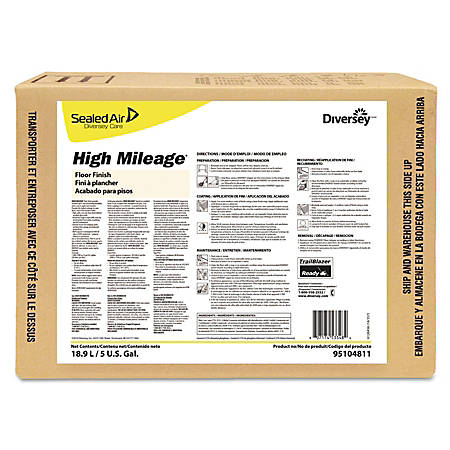 Diversey™ High Mileage® UHS Floor Finish, Light Scent, 640 Oz