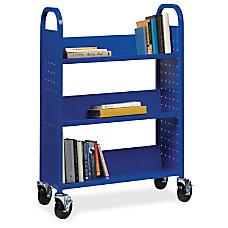 Lorell Single sided Steel Book Cart