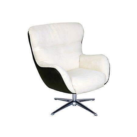 Serta Rylie Collaboration Lounge Chair, Cream/Black Synergy/Silver