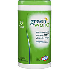 Green Works Compostable Cleaning Wipes Wipe