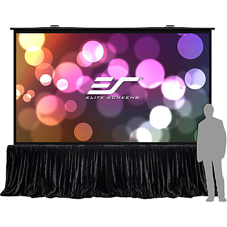 """Elite Screens QuickStand 5-Second Series - 150-INCH 16:9, Manual Pull Up, Movie Theater 8K / 4K Ultra HD 3D Ready, 2-YEAR WARRANTY, QS150HD"""""""