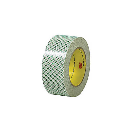 "3M™ 410 Double-Sided Masking Tape, 3"" Core, 2"" x 108', Off White, Case Of 3"
