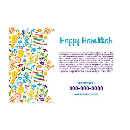 Plastic Sign Template, Hanukkah Art, Horizontal