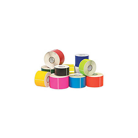 "Tape Logic® Write™On Rectangle Inventory Label Roll, DL635K, 6"" x 4"", Fluorescent Pink, Roll Of 500"