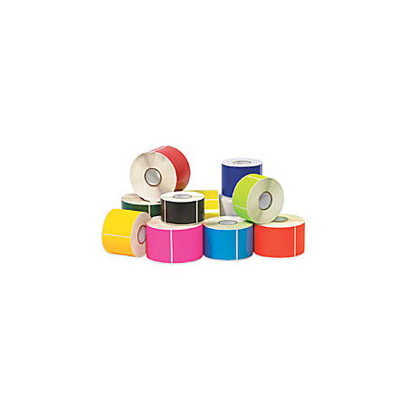 "Tape Logic® Write™On Rectangle Inventory Label Roll, DL635L, 6"" x 4"", Fluorescent Bright Yellow, Roll Of 500"