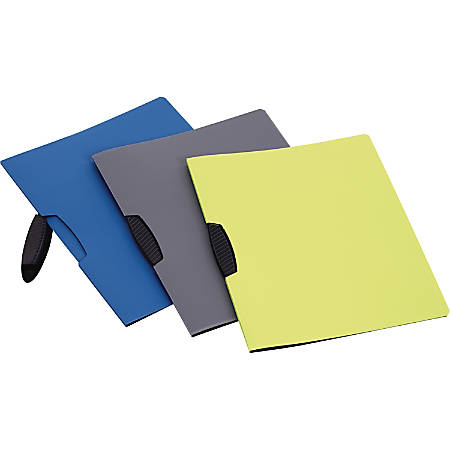 """Oxford Poly Swing-Clip Report Covers - Letter - 8 1/2"""" x 11"""" Sheet Size - Clip Fastener - Poly - Assorted - 25 / Box"""