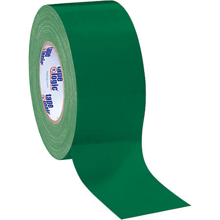 """Tape Logic® Color Duct Tape, 3"""" Core, 3"""" x 180', Green, Case Of 16"""