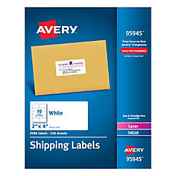 Avery Bulk Shipping Labels 2 x
