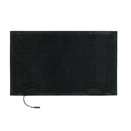 Melt Step Floor Mat, 1 Connector, 3' x 5', Black