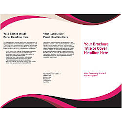 Customizable Trifold Brochure BlackPink Wave