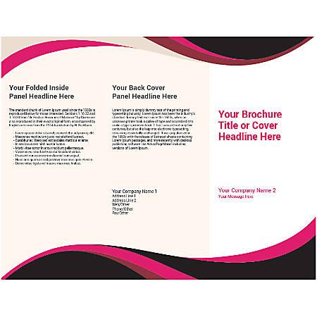Customizable Trifold Brochure, Black/Pink Wave