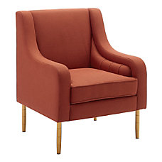 Linon Oxford Accent Chair PaprikaGold