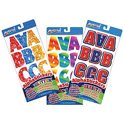 ArtSkills Letter Number Punctuation Stickers Retro. Mouse over to zoom
