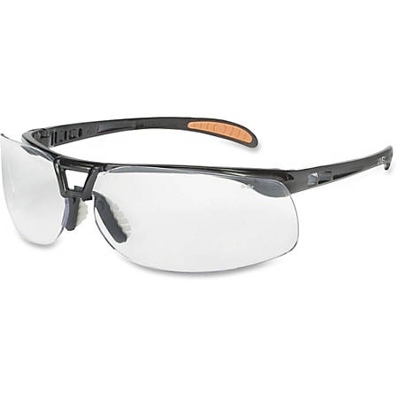 Uvex Safety Protege Floating Lens Eyewear - Scratch Resistant, Comfortable, Flexible, Lightweight, Cushioned, Temple Tip Pad - Eye, Particulate, Impact, Visibility Protection - Polycarbonate Lens, Polycarbonate Frame, Polycarbonate Temple - Clear