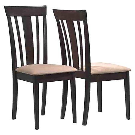 Monarch Specialties Asher Dining Chairs, Beige/Cappuccino, Set Of 2 Chairs