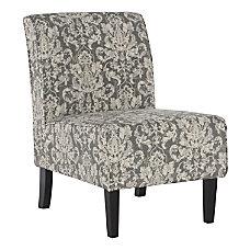 Linon Winston Accent Chair Gray DamaskDark