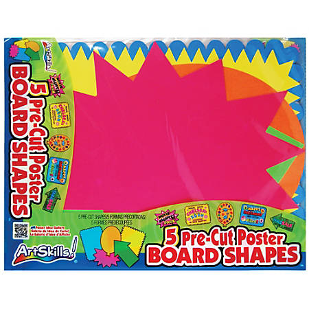 "ArtSkills® Poster Board Pre-Cut Shapes, 11 1/2"" x 14"", Pack Of 5"