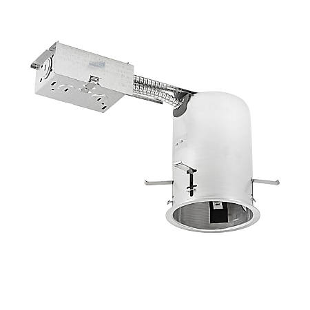 "Luminoso LED Dedicated Round Remodel Downlight Housing Fixture, 4"", 3,000 Kelvin, 11 Watt, 800 Lumens"