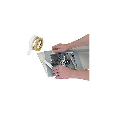 """3M® 444 Double Sided Film Tape, 1/2"""" x 36 Yd., Clear, 6 Rolls"""