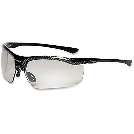 3M SmartLens Transitioning Protective Eyewear - Comfortable, Adjustable Temple, Flexible Hinge, Abrasion Resistant, Adjustable Nose Clip - Ultraviolet Protection - Polycarbonate Lens, Carbon Fiber Frame - Black, Black - 1 Each