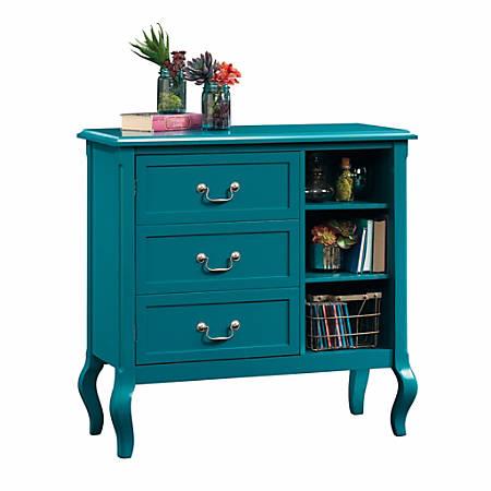 Sauder® Eden Rue Accent Storage Cabinet, 4 Adjustable Shelves, Peacock