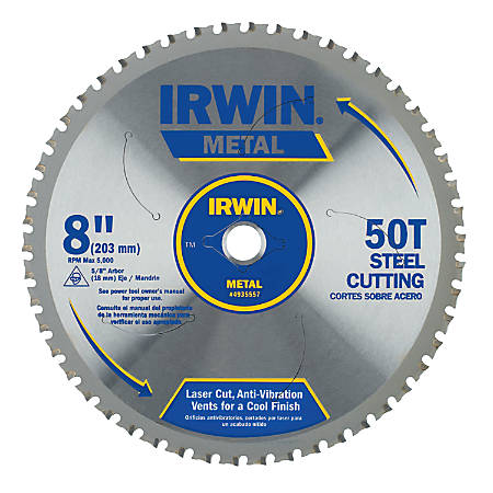 Metal Cutting Blades, 8 in, 50 Teeth