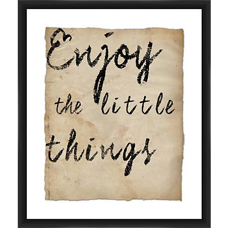 "PTM Images Framed Wall Art, Little Things, 25 1/2""H x 21 1/2""W"